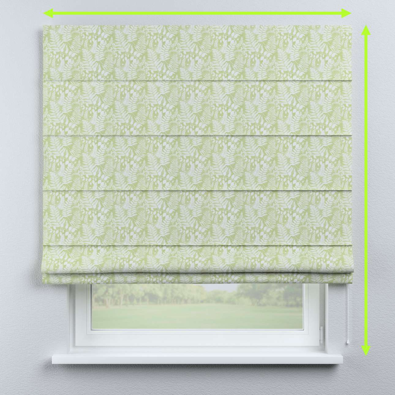 Capri roman blind in collection Pastel Forest, fabric: 142-49