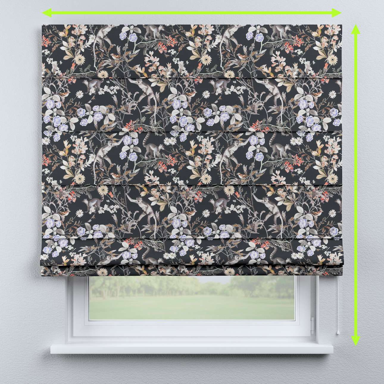 Capri roman blind in collection Tropical Island, fabric: 142-60