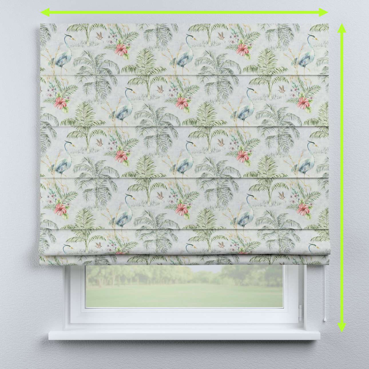 Capri roman blind in collection Tropical Island, fabric: 142-58
