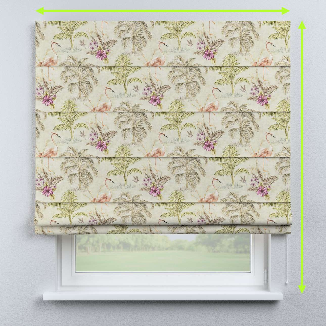 Capri roman blind in collection Tropical Island, fabric: 142-61