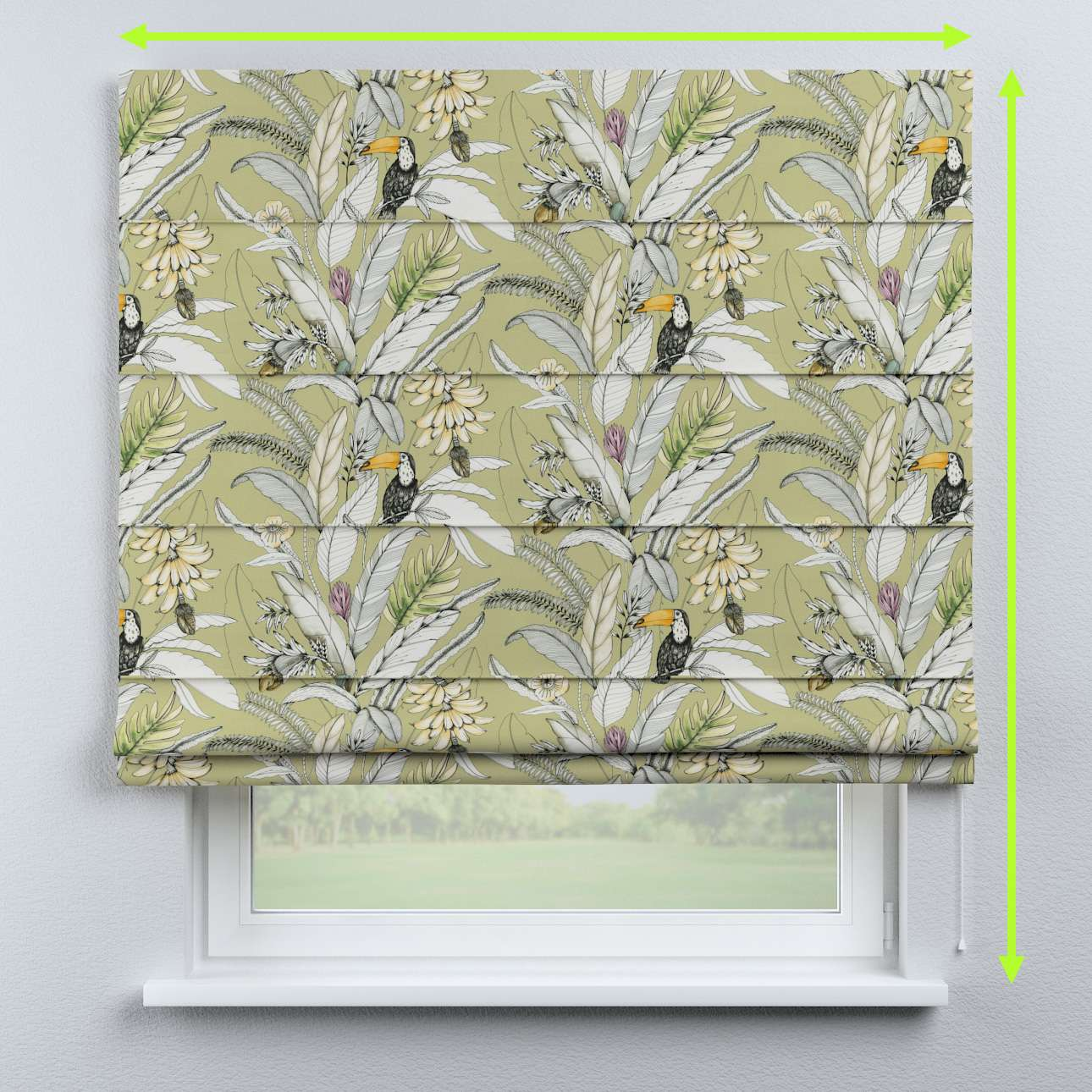 Capri roman blind in collection Tropical Island, fabric: 142-65