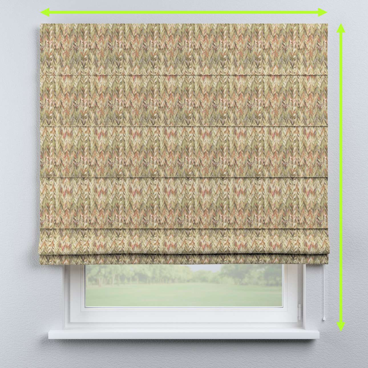 Capri roman blind in collection Tropical Island, fabric: 142-66