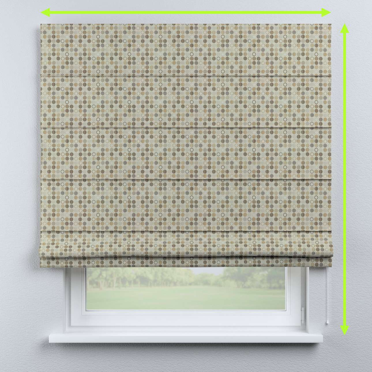 Capri roman blind in collection Retro Glam, fabric: 142-81