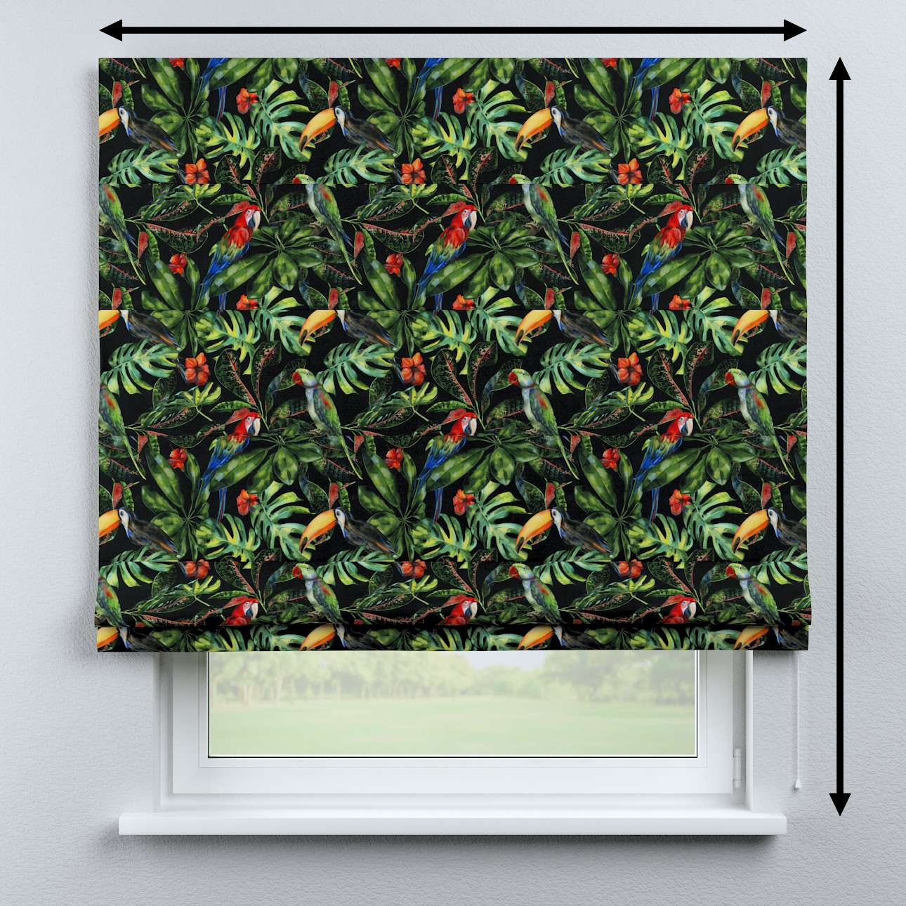 Capri roman blind in collection Velvet, fabric: 704-28