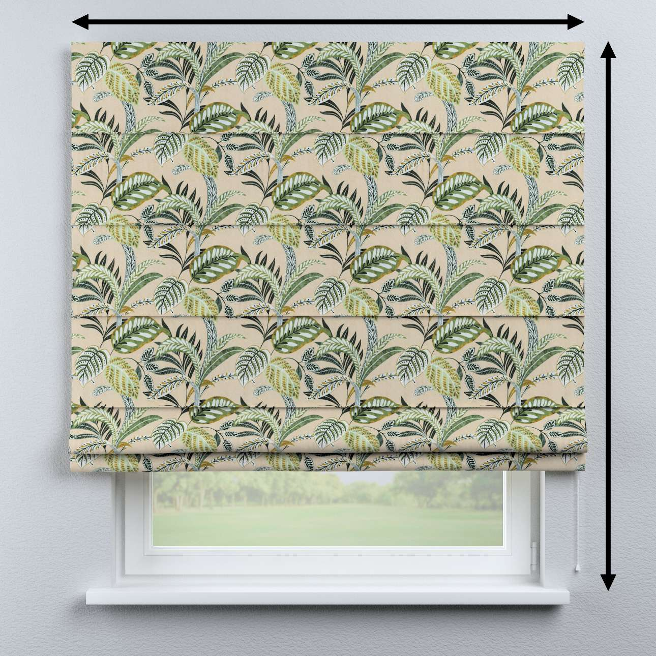 Capri roman blind in collection Tropical Island, fabric: 142-96