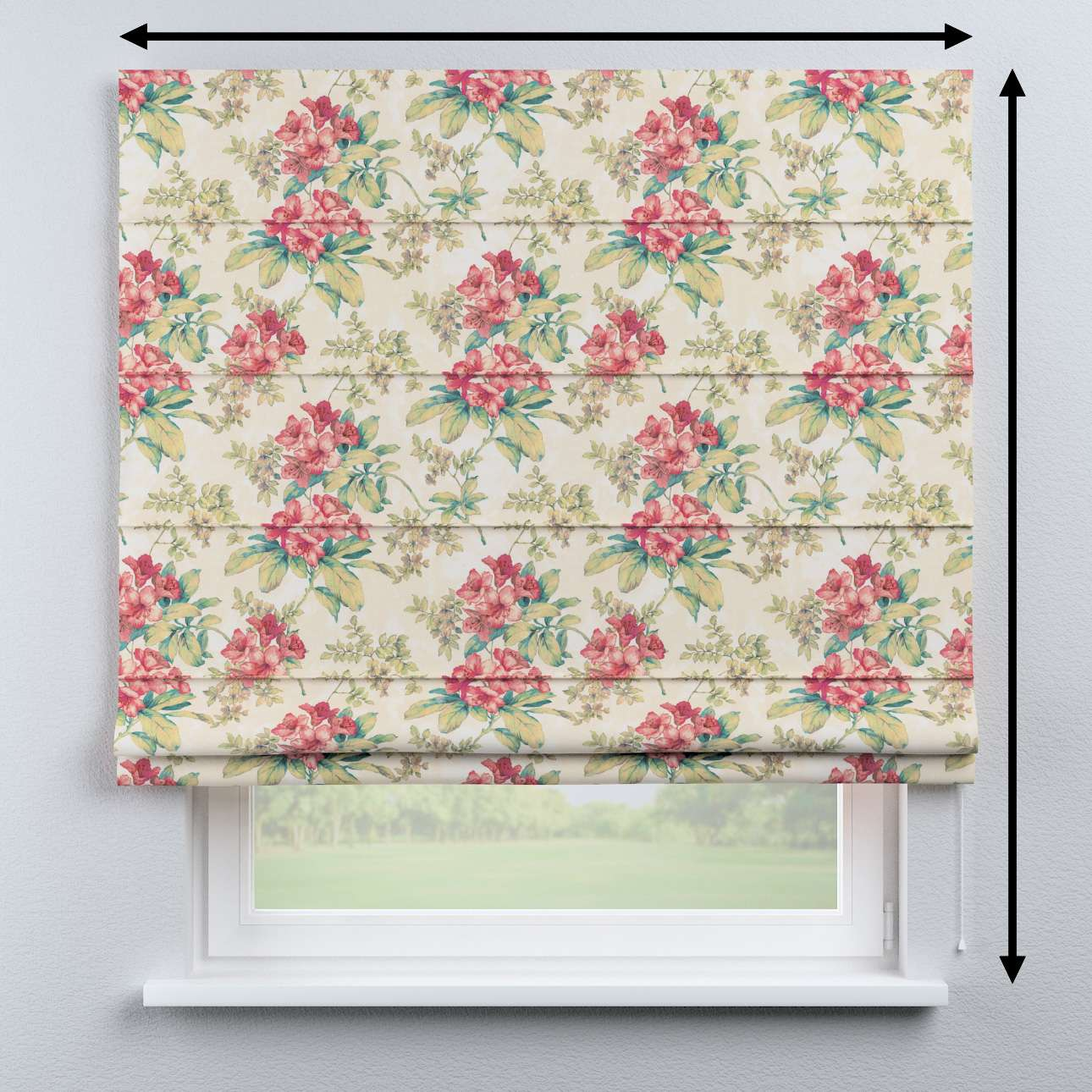 Capri roman blind in collection Londres, fabric: 143-40