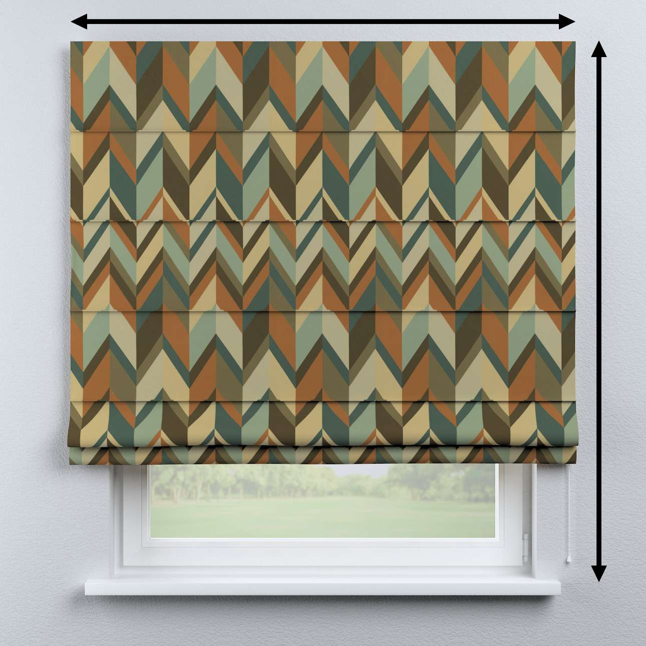 Capri roman blind in collection Vintage 70's, fabric: 143-55