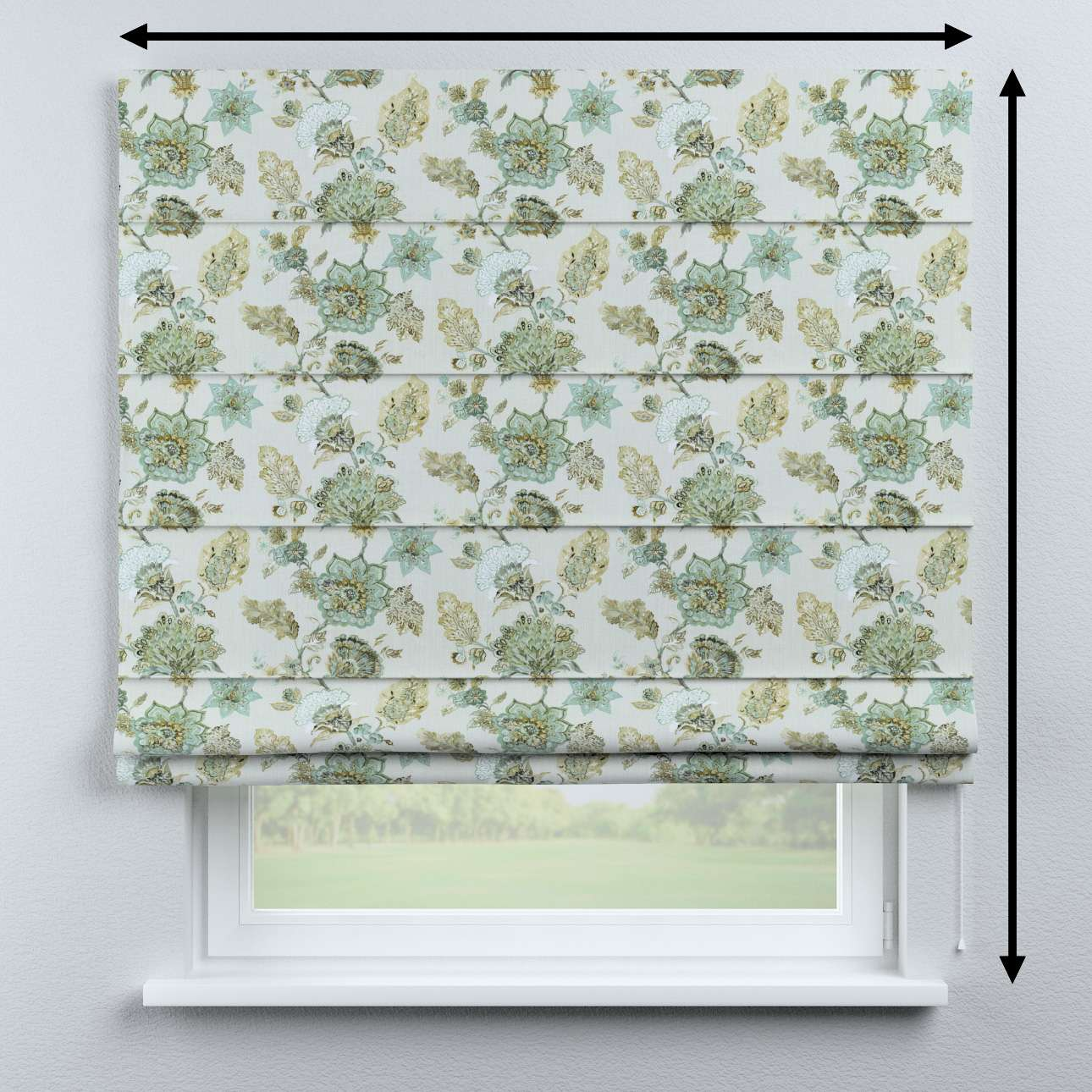 Capri roman blind in collection Flowers, fabric: 143-67