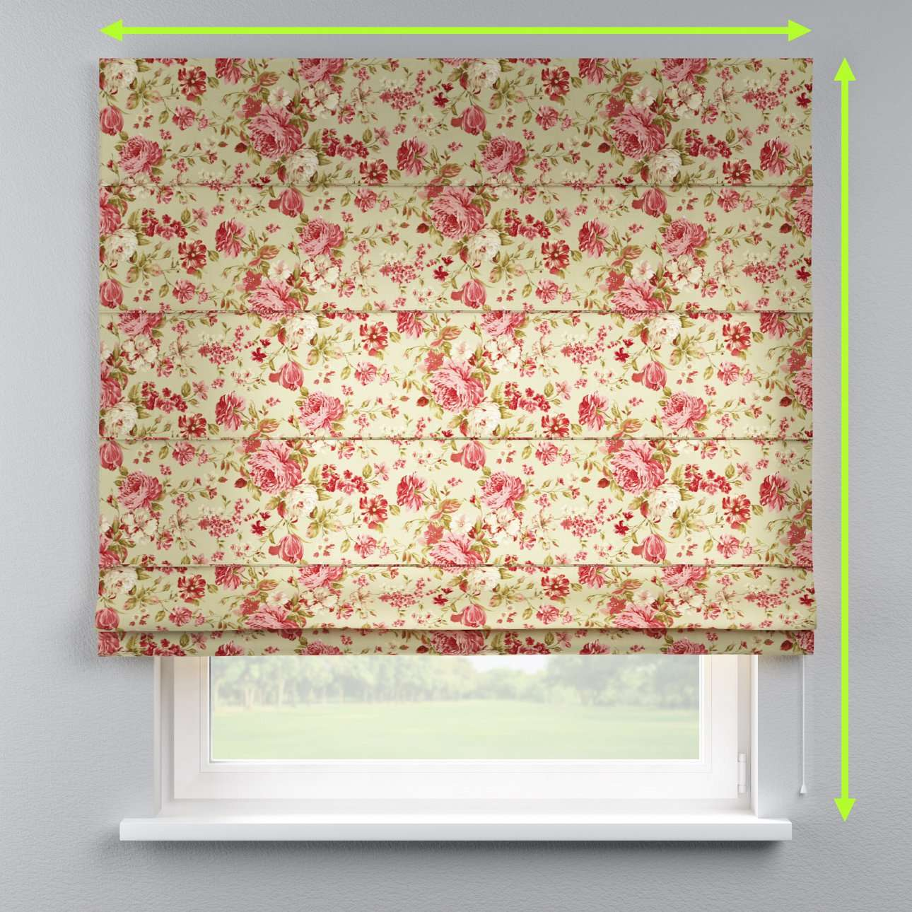 Capri roman blind in collection Flowers, fabric: 311-06