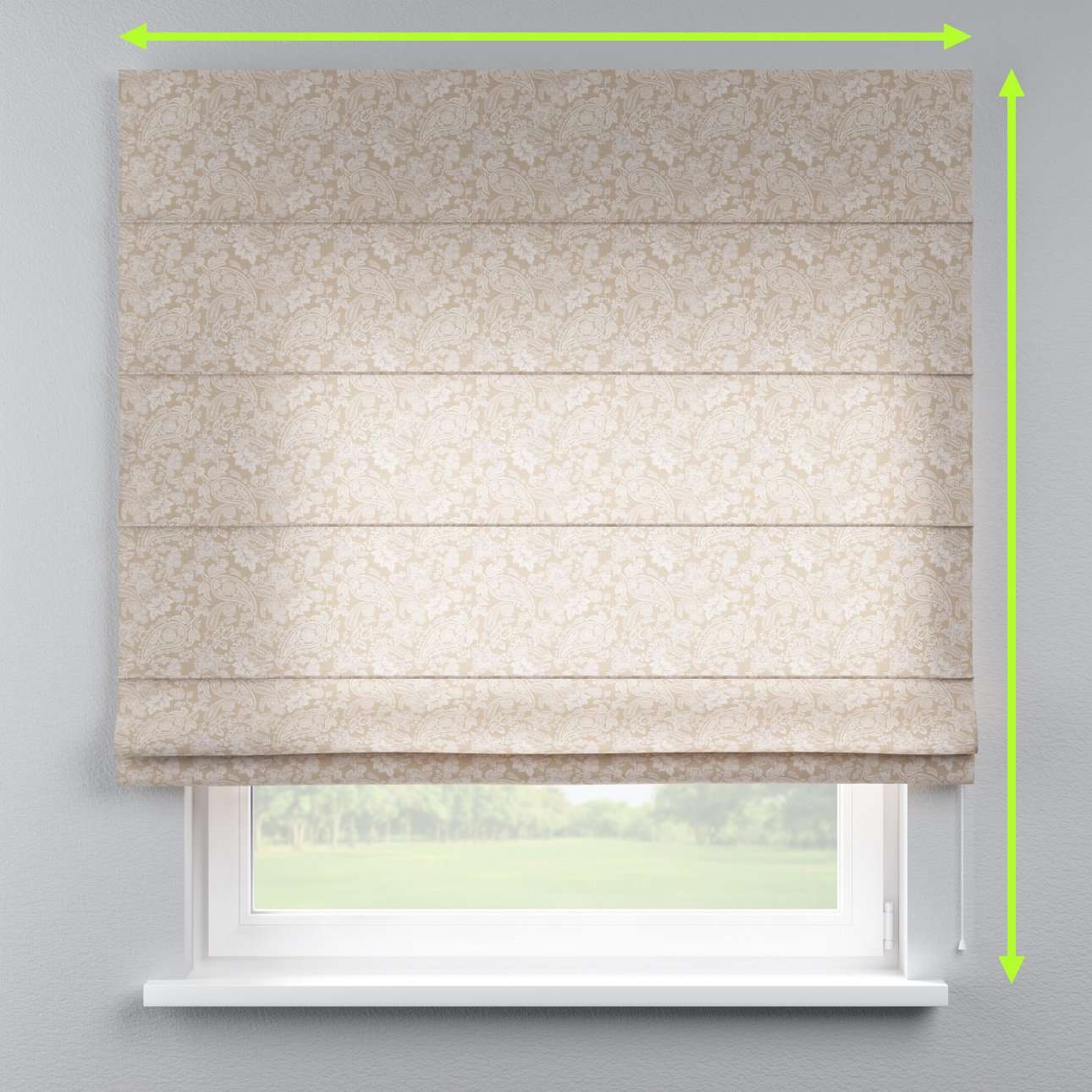Capri roman blind in collection Flowers, fabric: 311-08