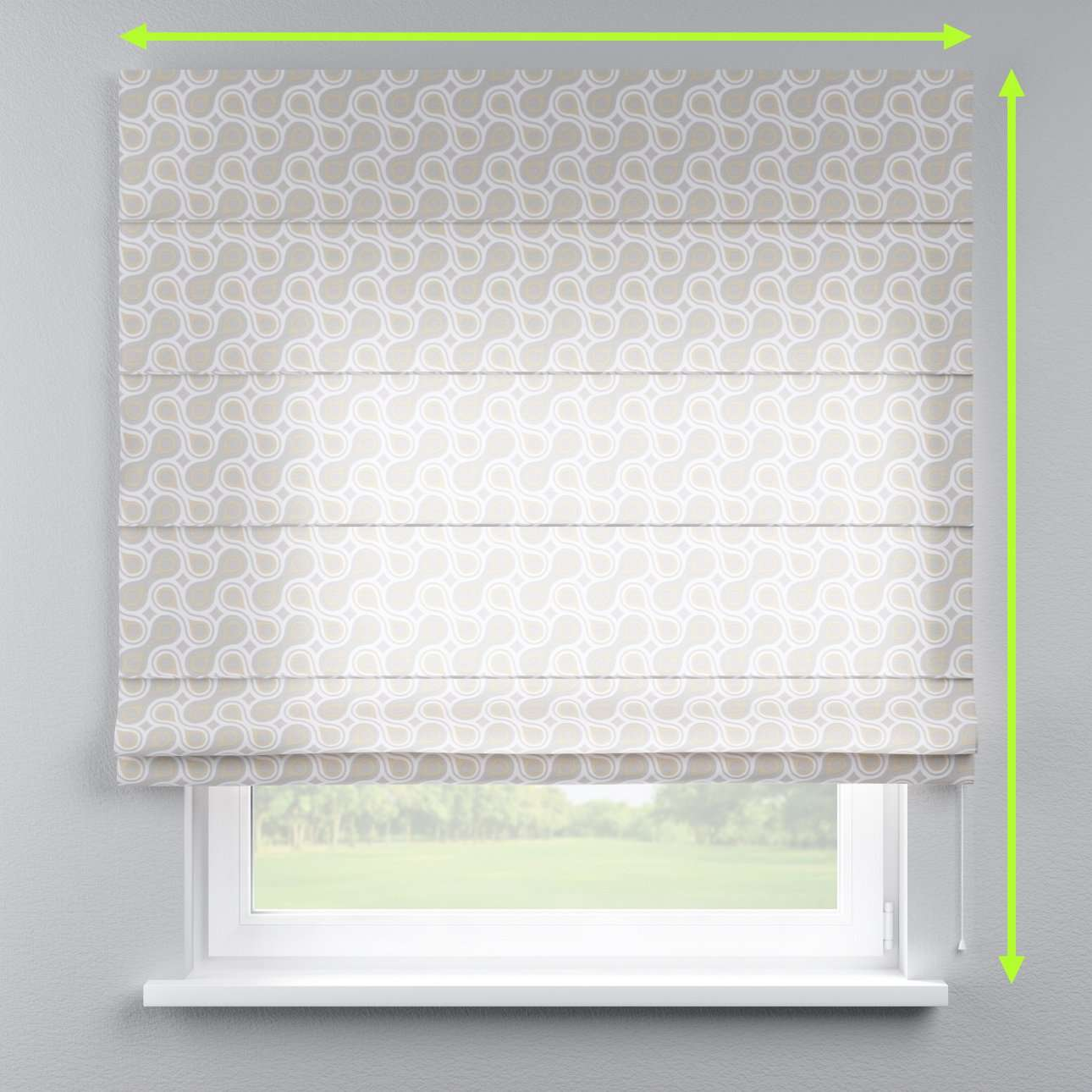 Capri roman blind in collection Flowers, fabric: 311-11