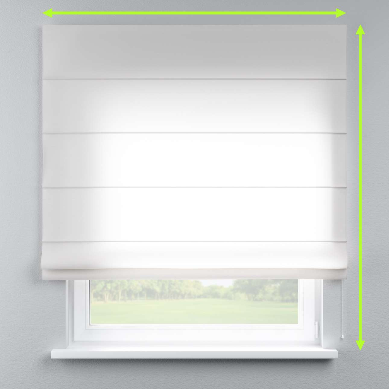 Capri roman blind in collection Linen , fabric: 392-08
