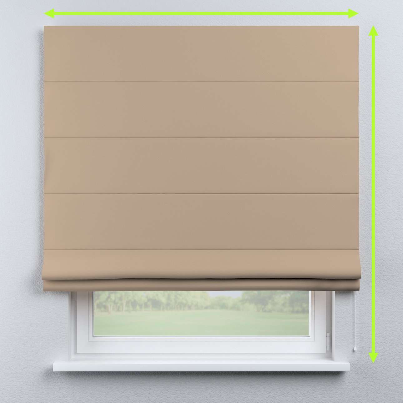 Capri roman blind in collection Blackout, fabric: 269-00
