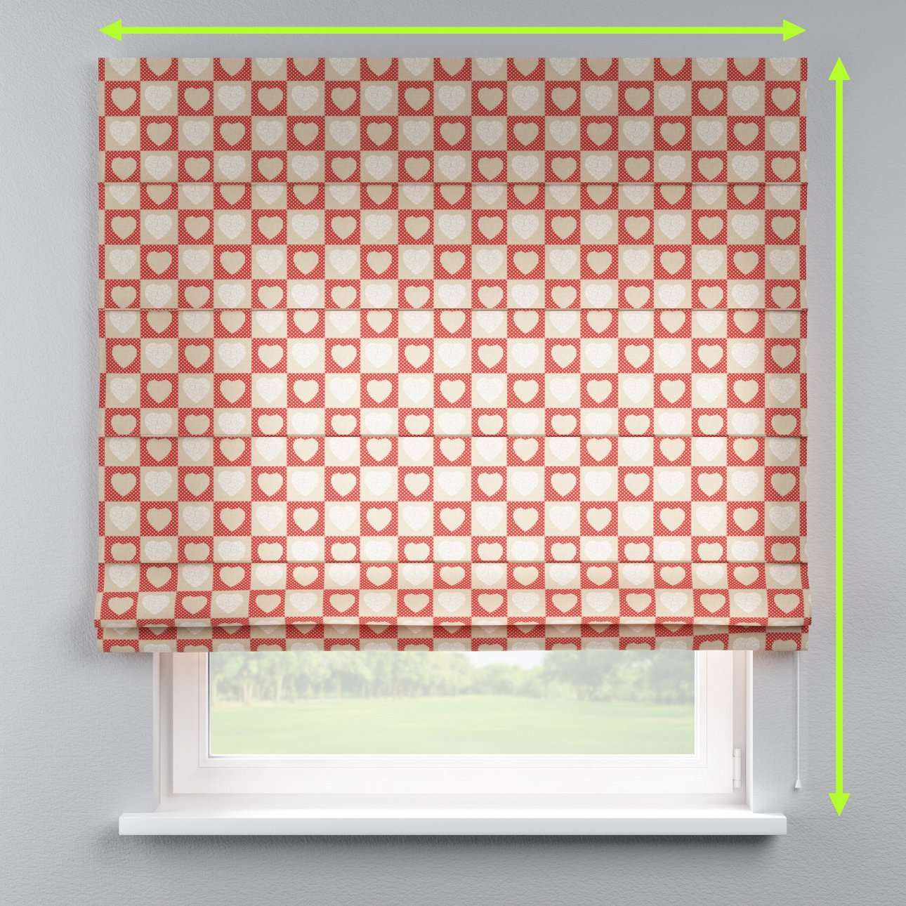Capri roman blind in collection Freestyle, fabric: 629-16