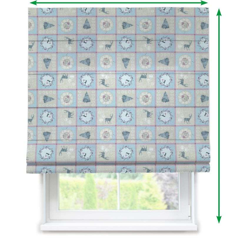 Capri roman blind in collection Christmas , fabric: 629-21
