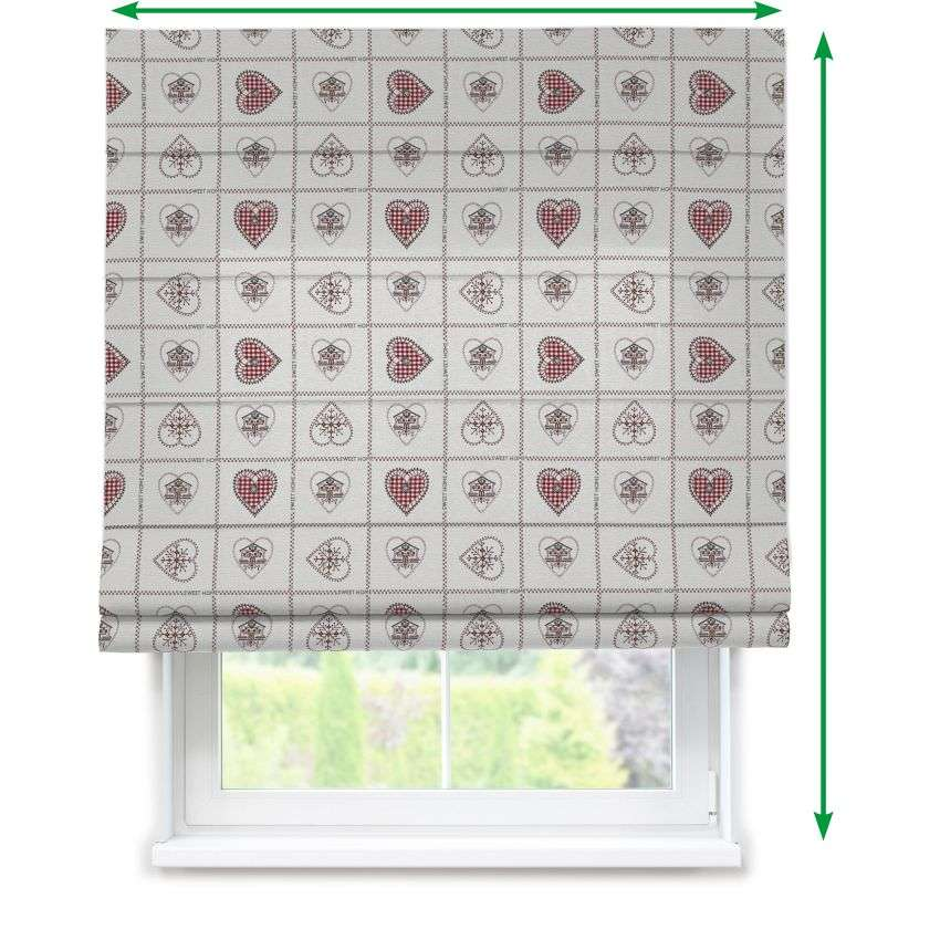 Capri roman blind in collection Christmas , fabric: 630-17