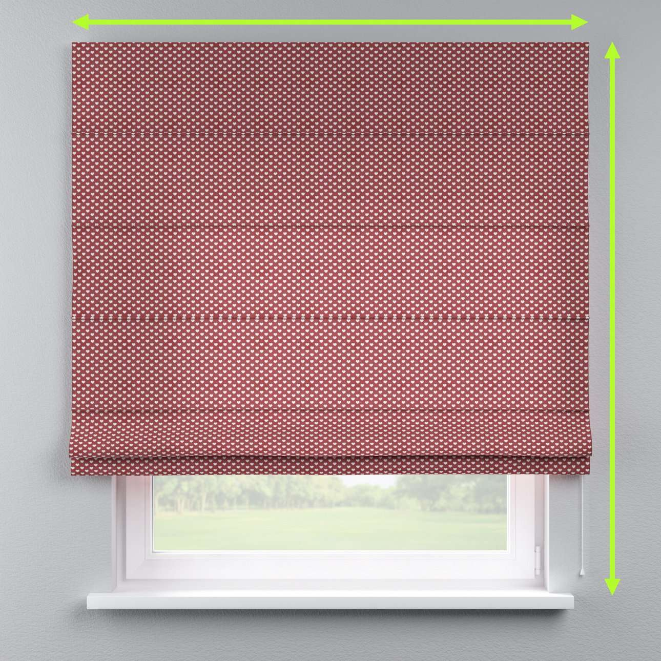 Capri roman blind in collection Nordic, fabric: 630-40
