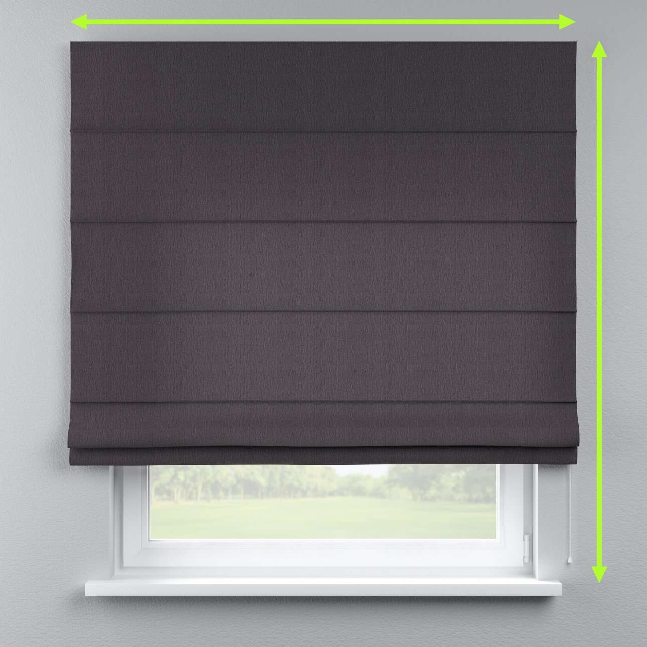 Capri roman blind in collection Chenille, fabric: 702-20