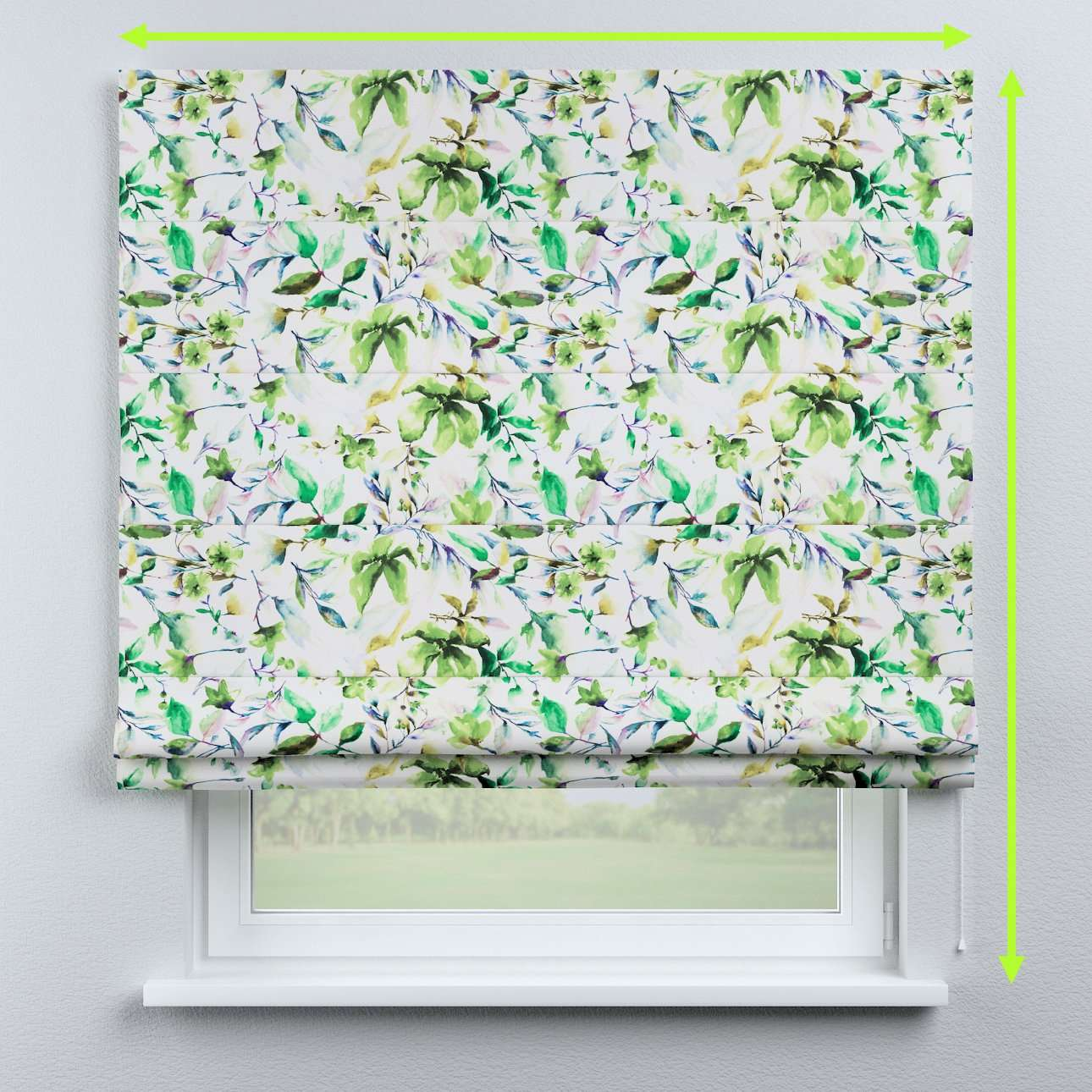 Capri roman blind in collection Velvet, fabric: 704-20