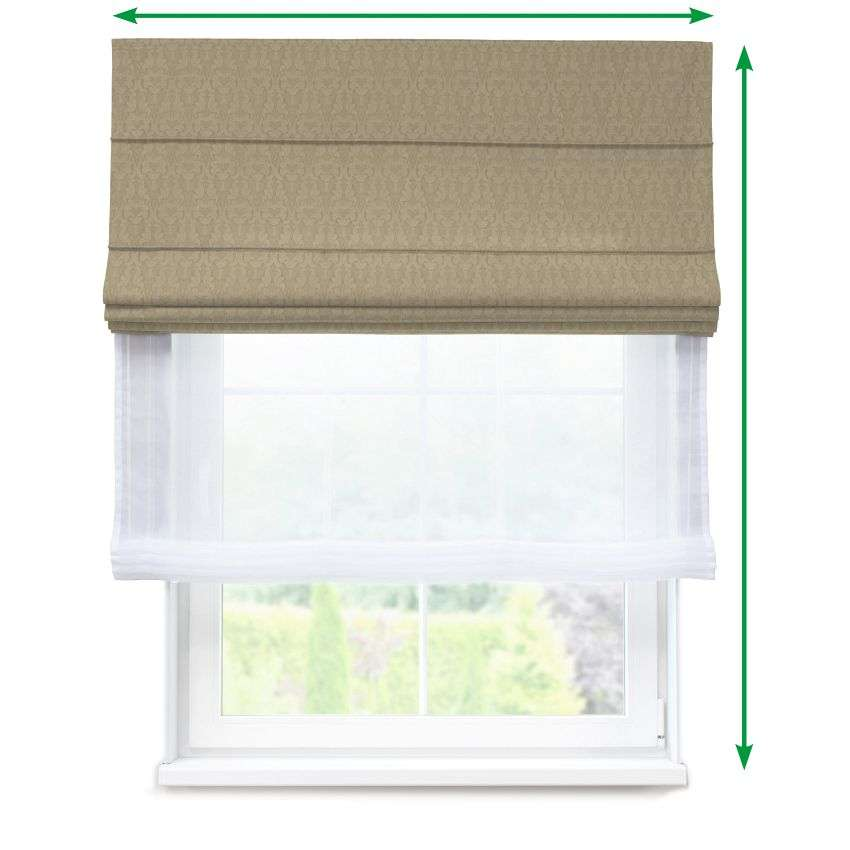 Voile and fabric roman blind (DUO II) in collection Victoria, fabric: 130-03