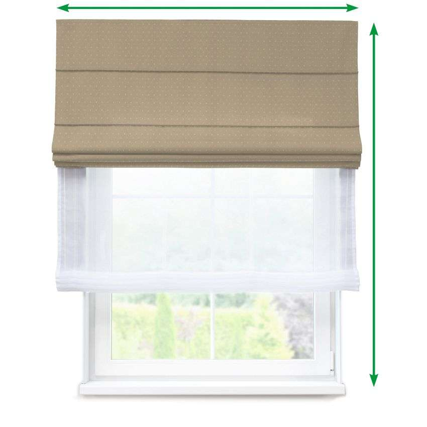 Voile and fabric roman blind (DUO II) in collection SALE, fabric: 130-05