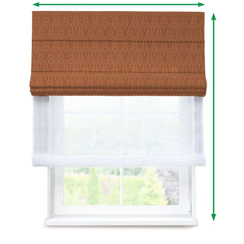 Voile and fabric roman blind (DUO II) in collection Victoria, fabric: 130-06