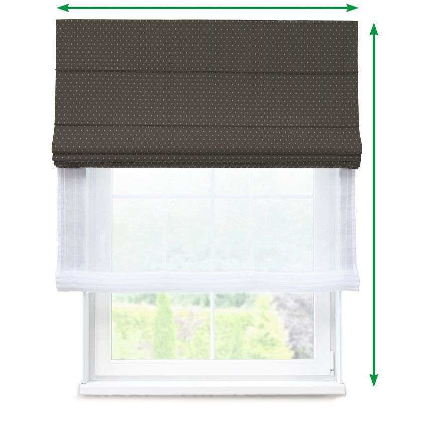 Voile and fabric roman blind (DUO II) in collection Victoria, fabric: 130-11