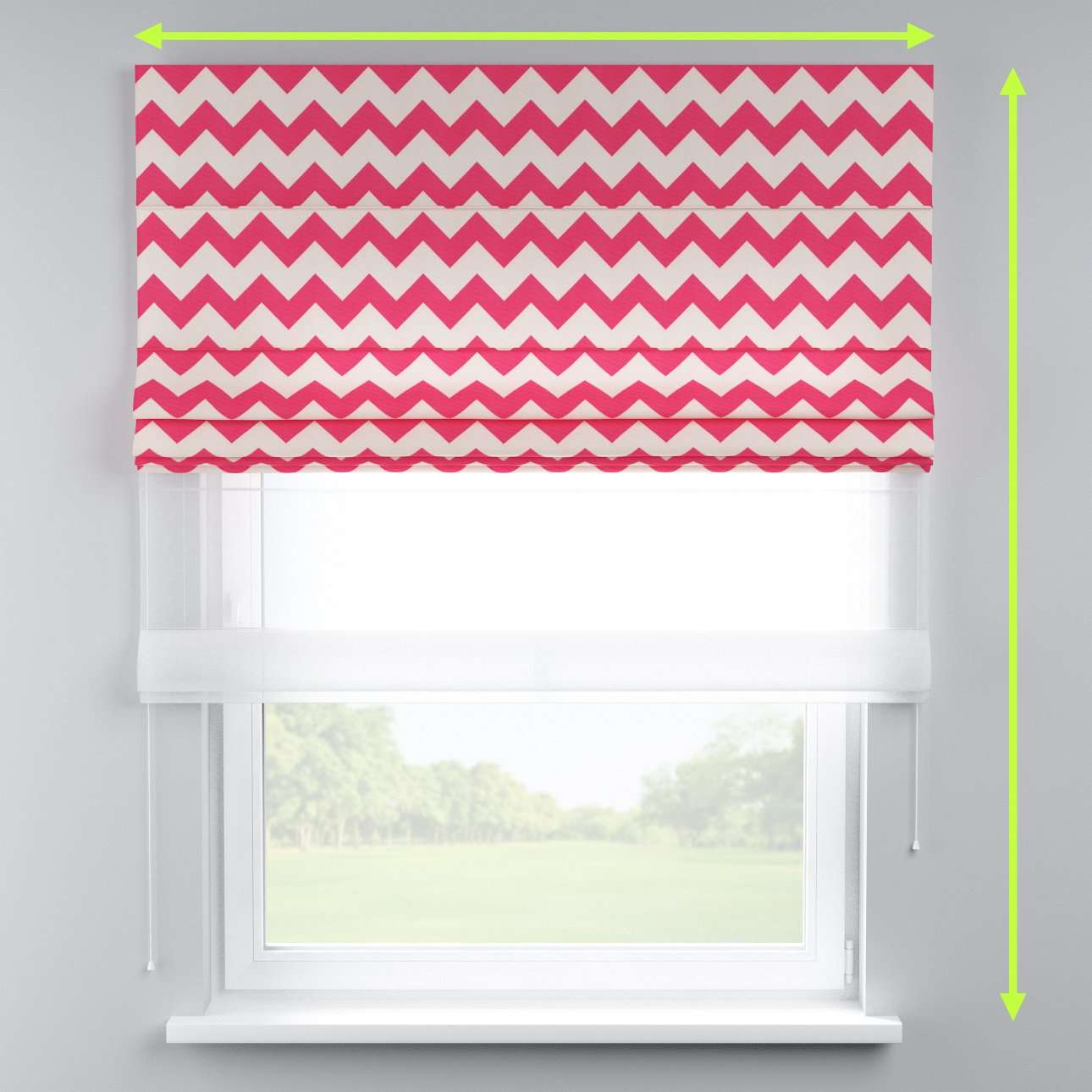Voile and fabric roman blind (DUO II) in collection Comic Book & Geo Prints, fabric: 135-00