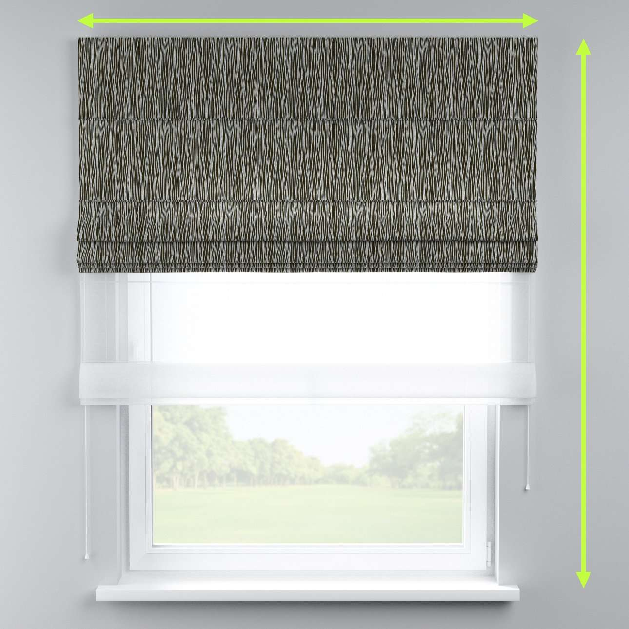 Voile and fabric roman blind (DUO II) in collection Comic Book & Geo Prints, fabric: 135-06