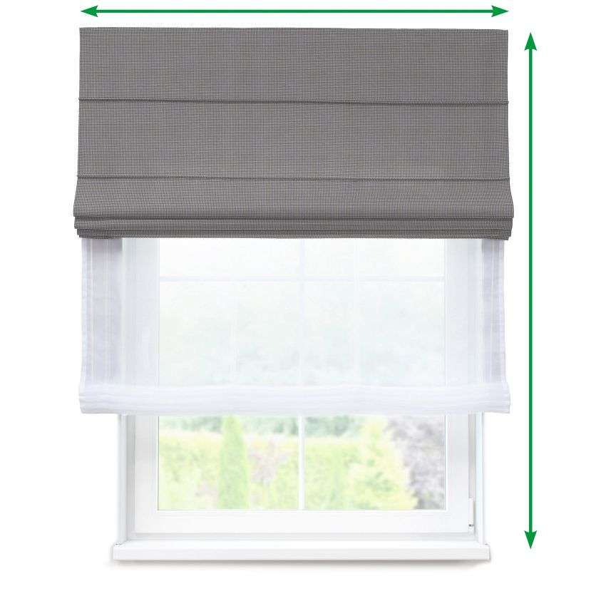 Voile and fabric roman blind (DUO II) in collection Amelie , fabric: 135-64