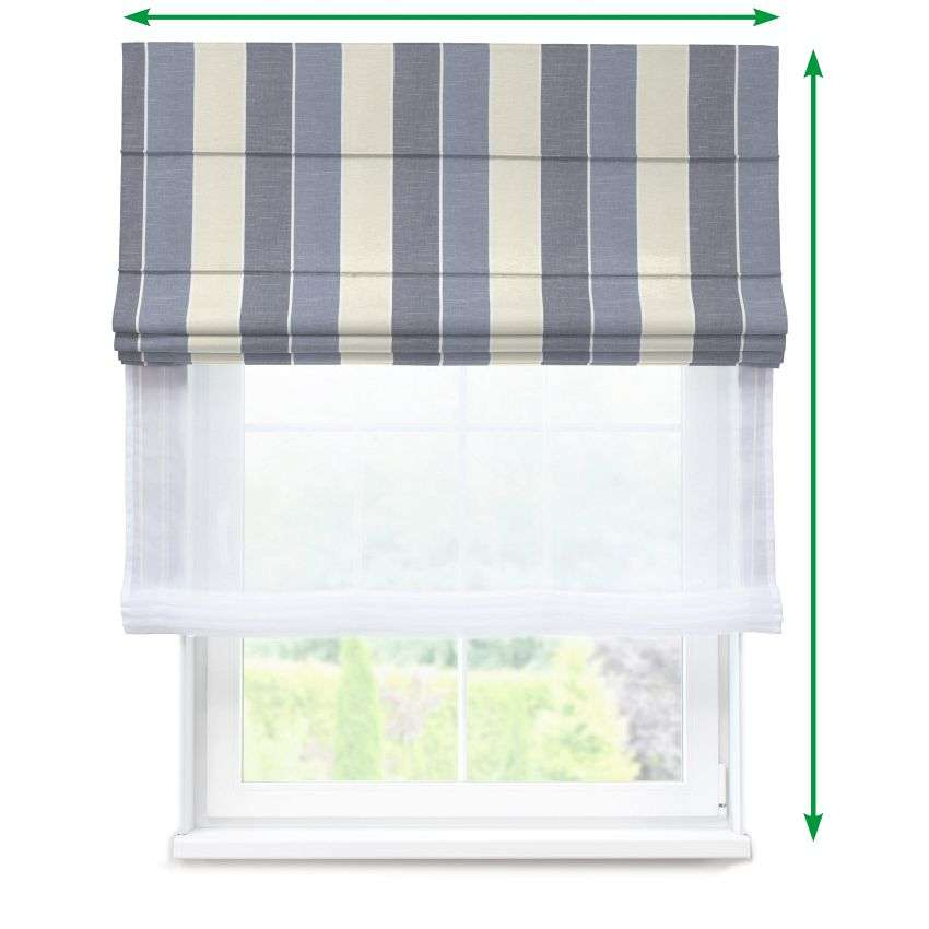 Voile and fabric roman blind (DUO II) in collection Cardiff, fabric: 136-27