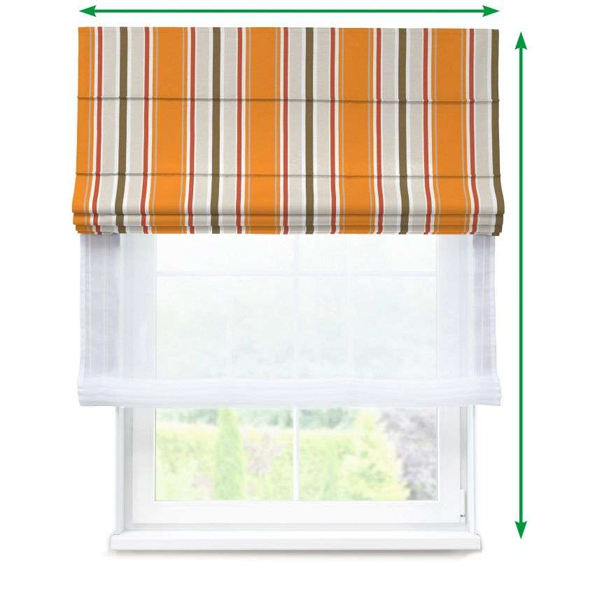 Voile and fabric roman blind (DUO II) in collection Fleur , fabric: 137-25