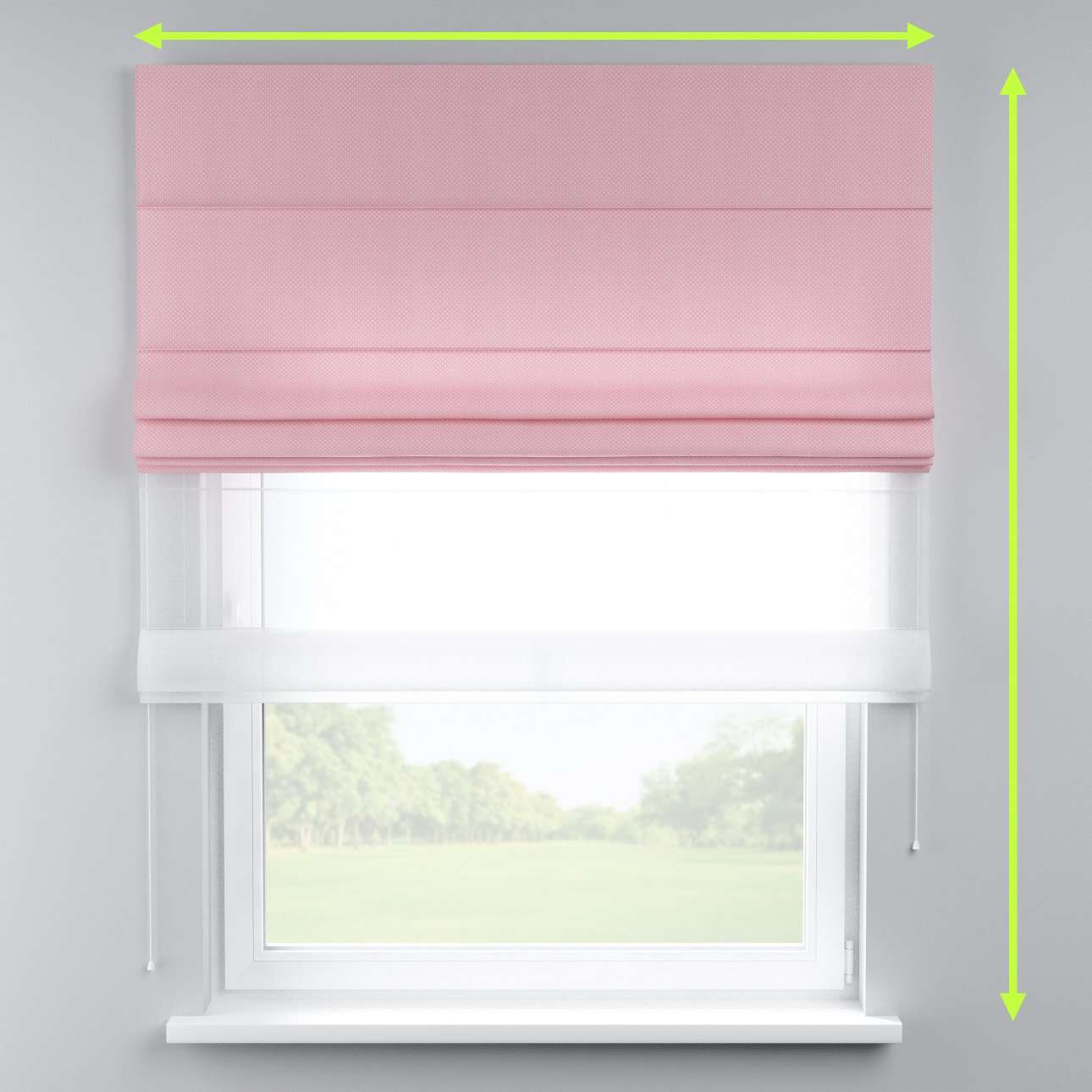 Voile and fabric roman blind (DUO II) in collection Ashley, fabric: 137-46