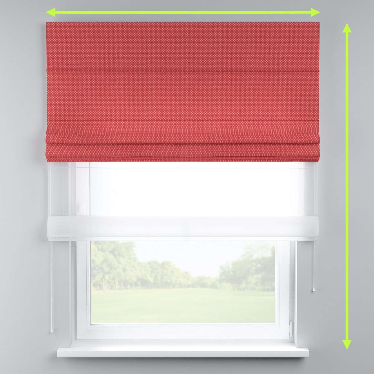 Voile and fabric roman blind (DUO II) in collection Ashley, fabric: 137-50