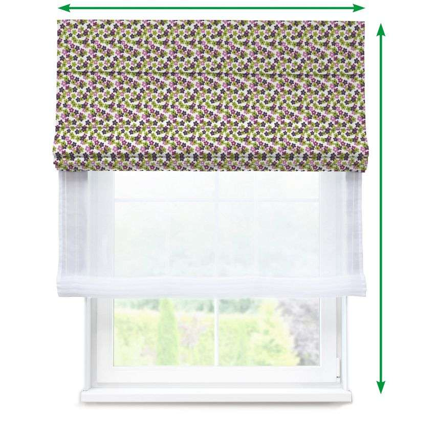 Voile and fabric roman blind (DUO II) in collection SALE, fabric: 137-55