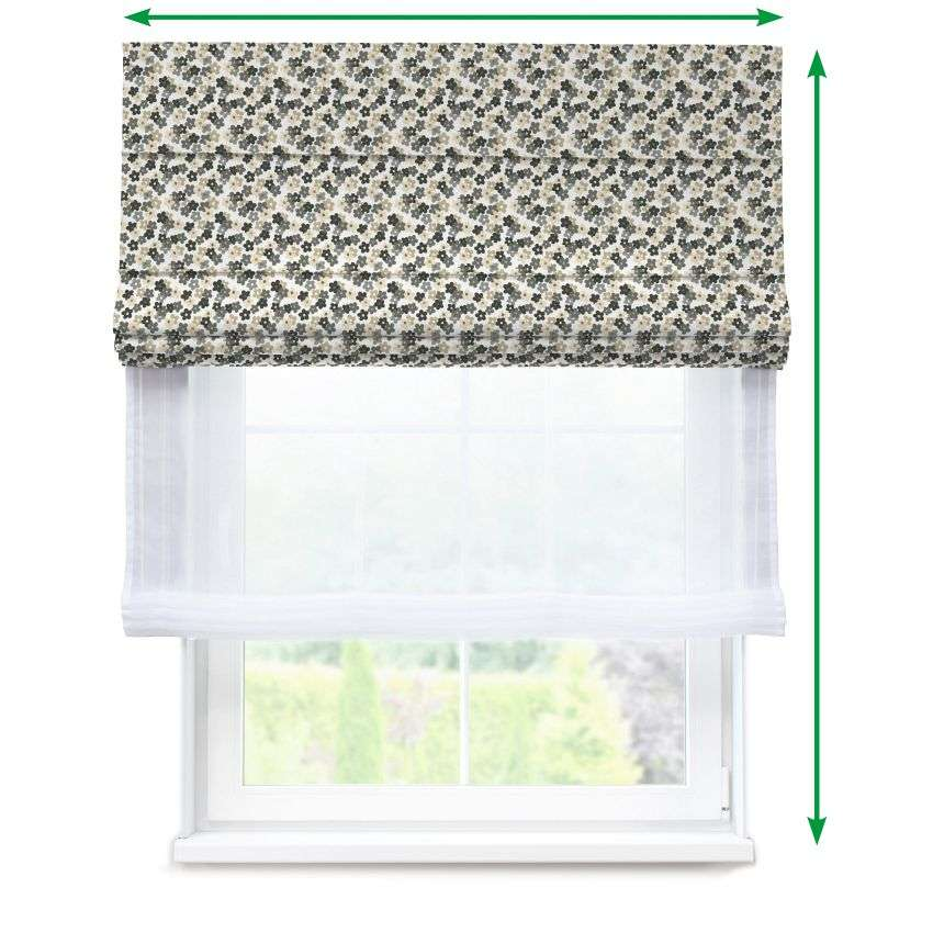 Voile and fabric roman blind (DUO II) in collection SALE, fabric: 137-57