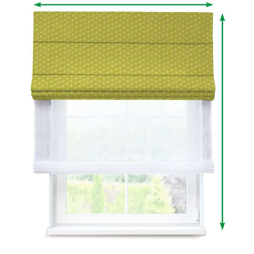 Voile and fabric roman blind (DUO II) in collection SALE, fabric: 137-58