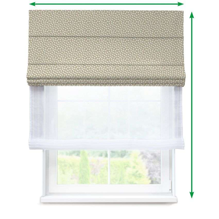 Voile and fabric roman blind (DUO II) in collection SALE, fabric: 137-59