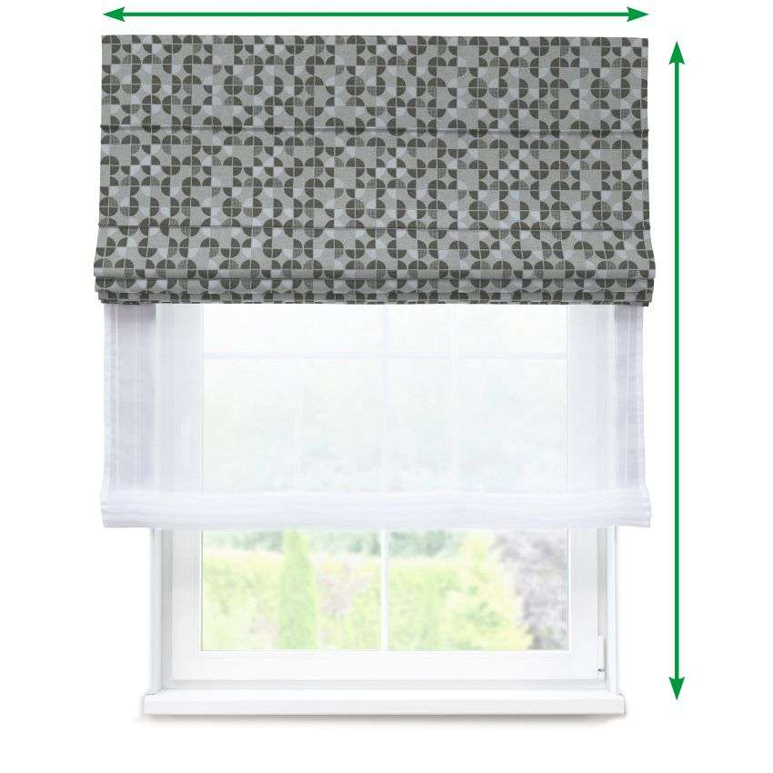Voile and fabric roman blind (DUO II) in collection SALE, fabric: 138-20