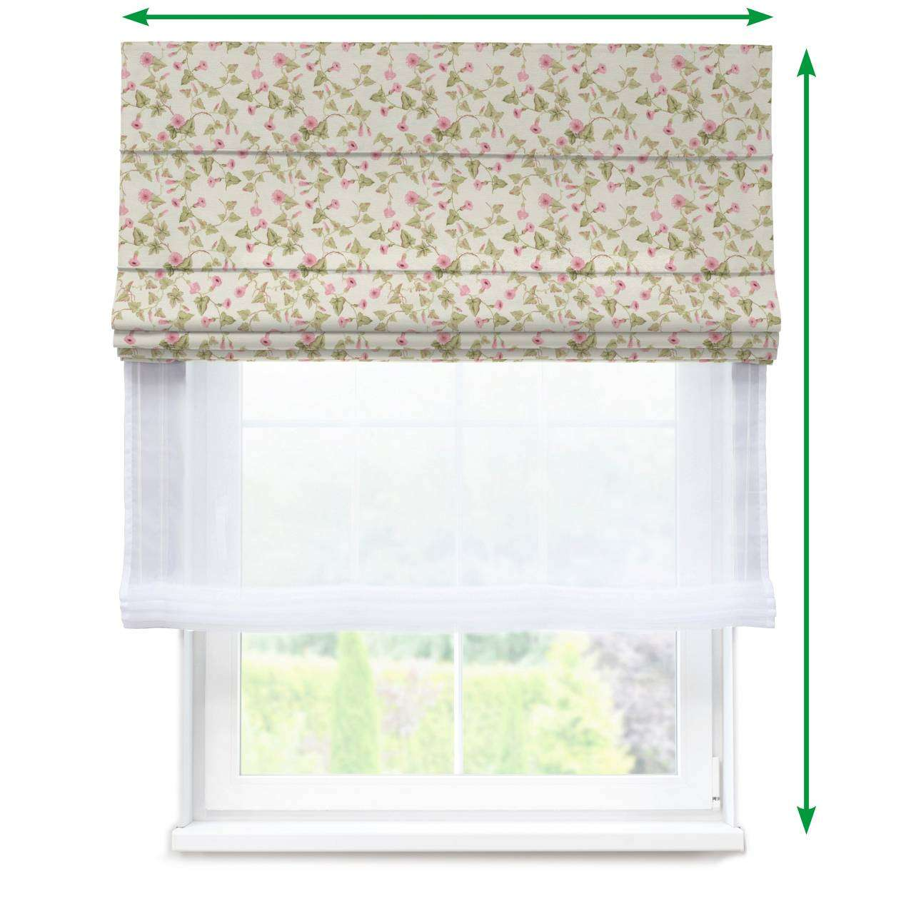 Voile and fabric roman blind (DUO II) in collection Mirella, fabric: 140-41