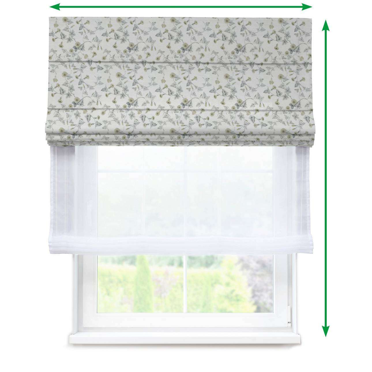 Voile and fabric roman blind (DUO II) in collection Mirella, fabric: 140-42