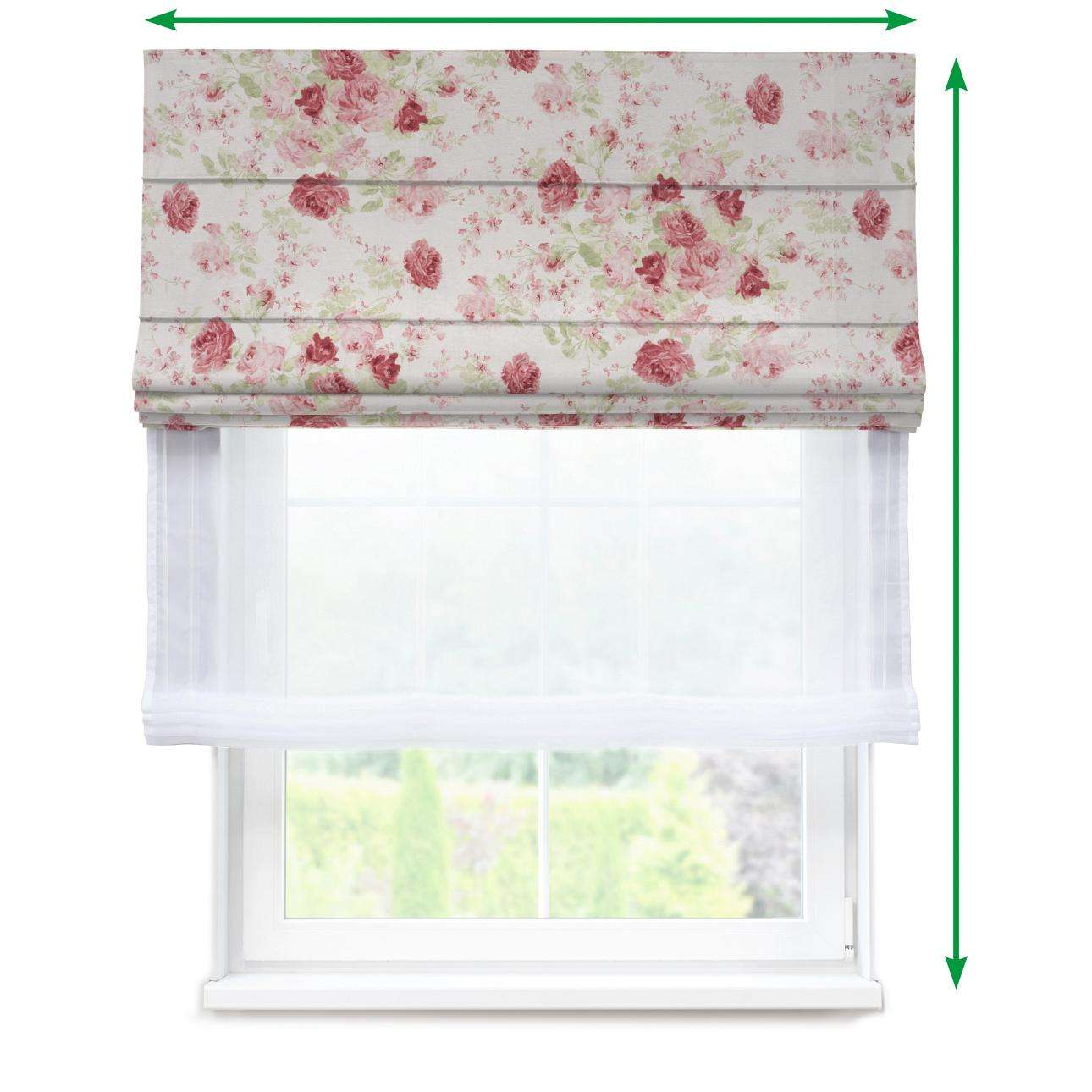 Voile and fabric roman blind (DUO II) in collection Flowers, fabric: 140-90