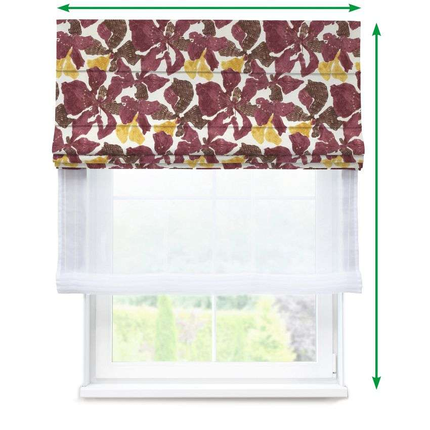 Voile and fabric roman blind (DUO II) in collection SALE, fabric: 141-09