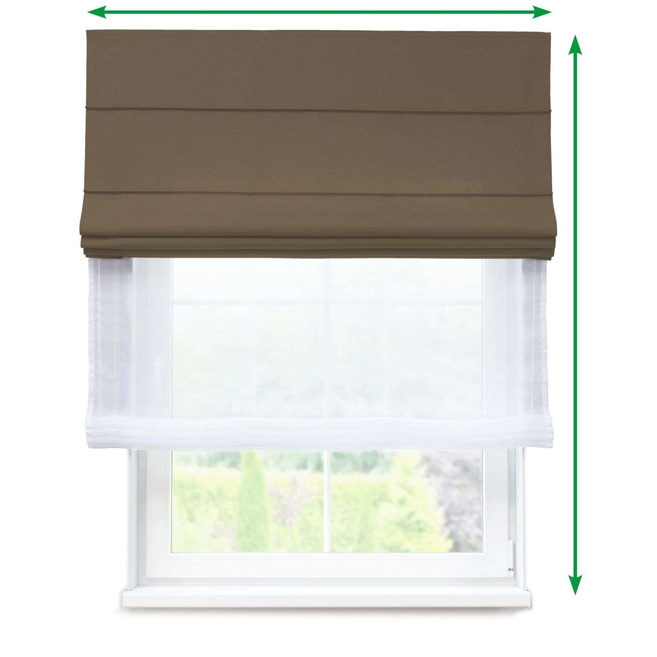 Voile and fabric roman blind (DUO II) in collection Milano, fabric: 150-39