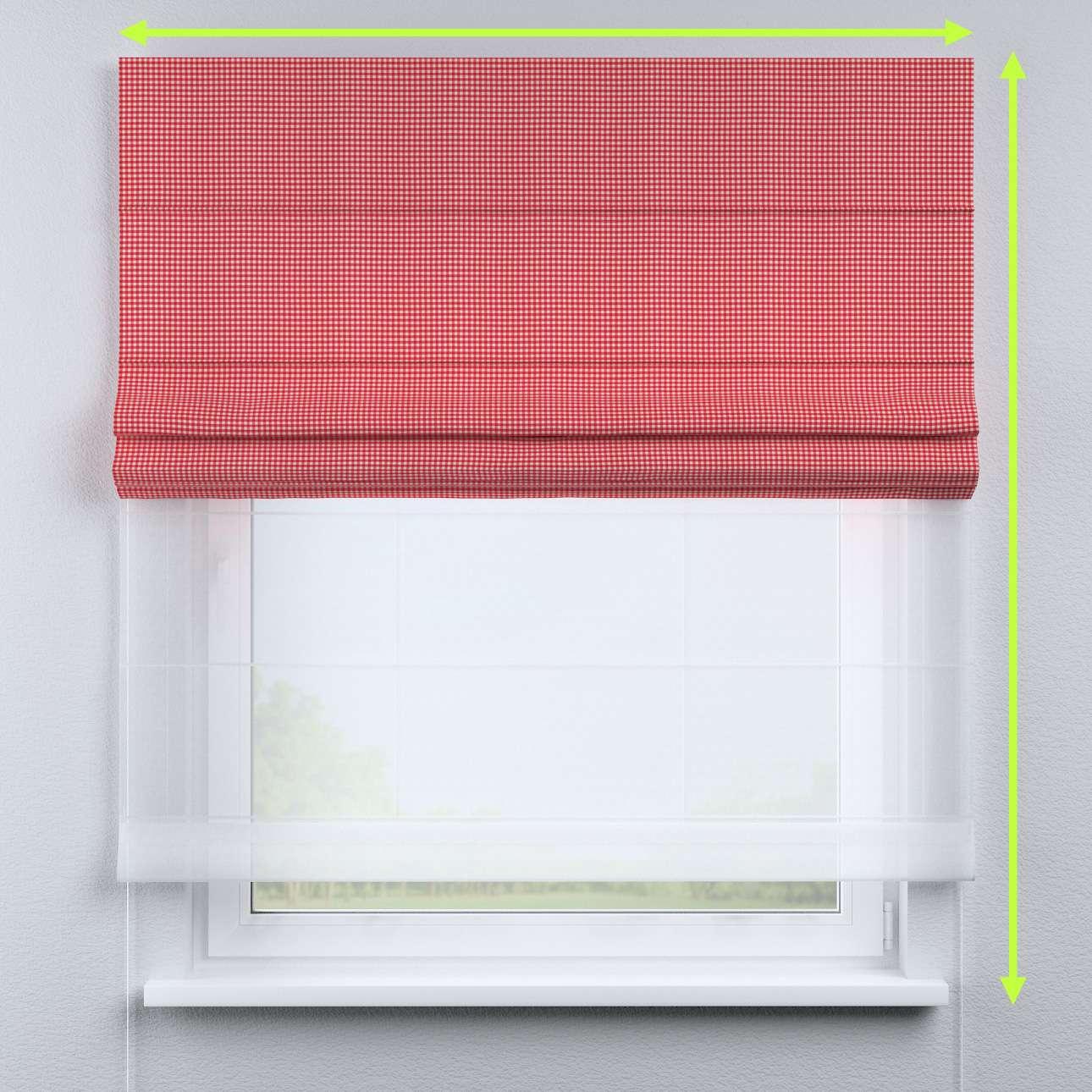 Duo med ensfarvet voile fra kolleksjonen Quadro, Stoffets bredde: 136-15