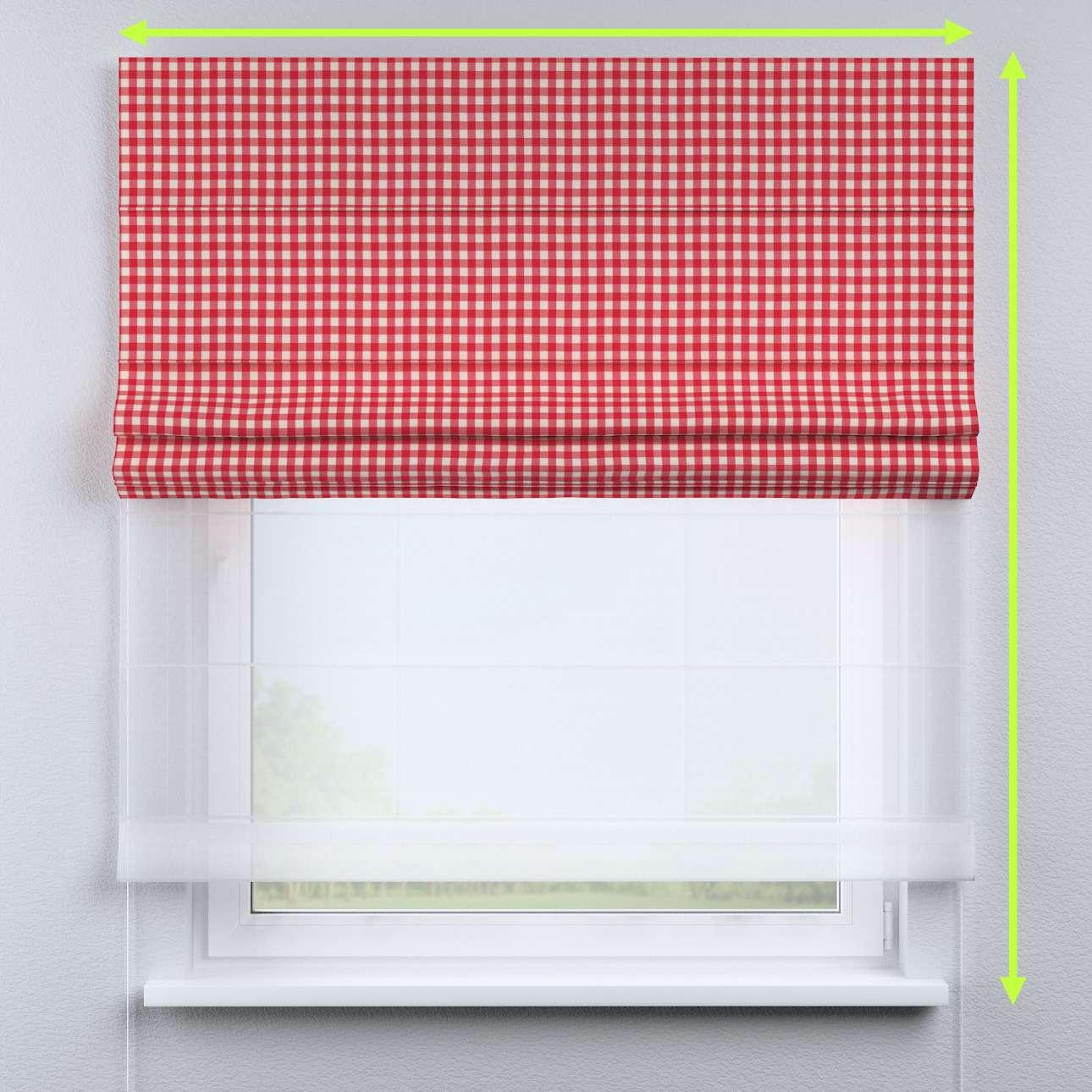 Duo med ensfarvet voile fra kolleksjonen Quadro, Stoffets bredde: 136-16