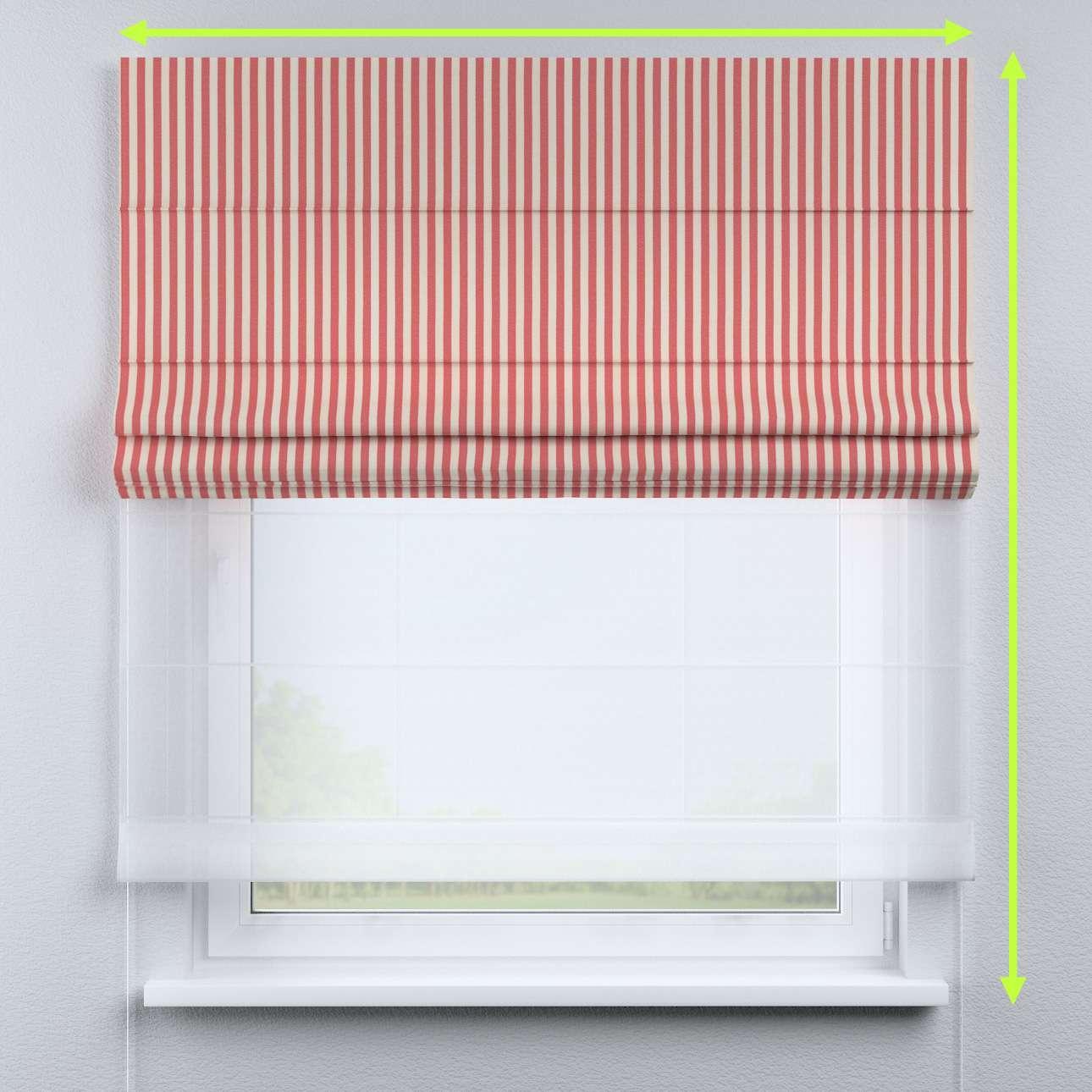 Duo med ensfarvet voile fra kolleksjonen Quadro, Stoffets bredde: 136-17