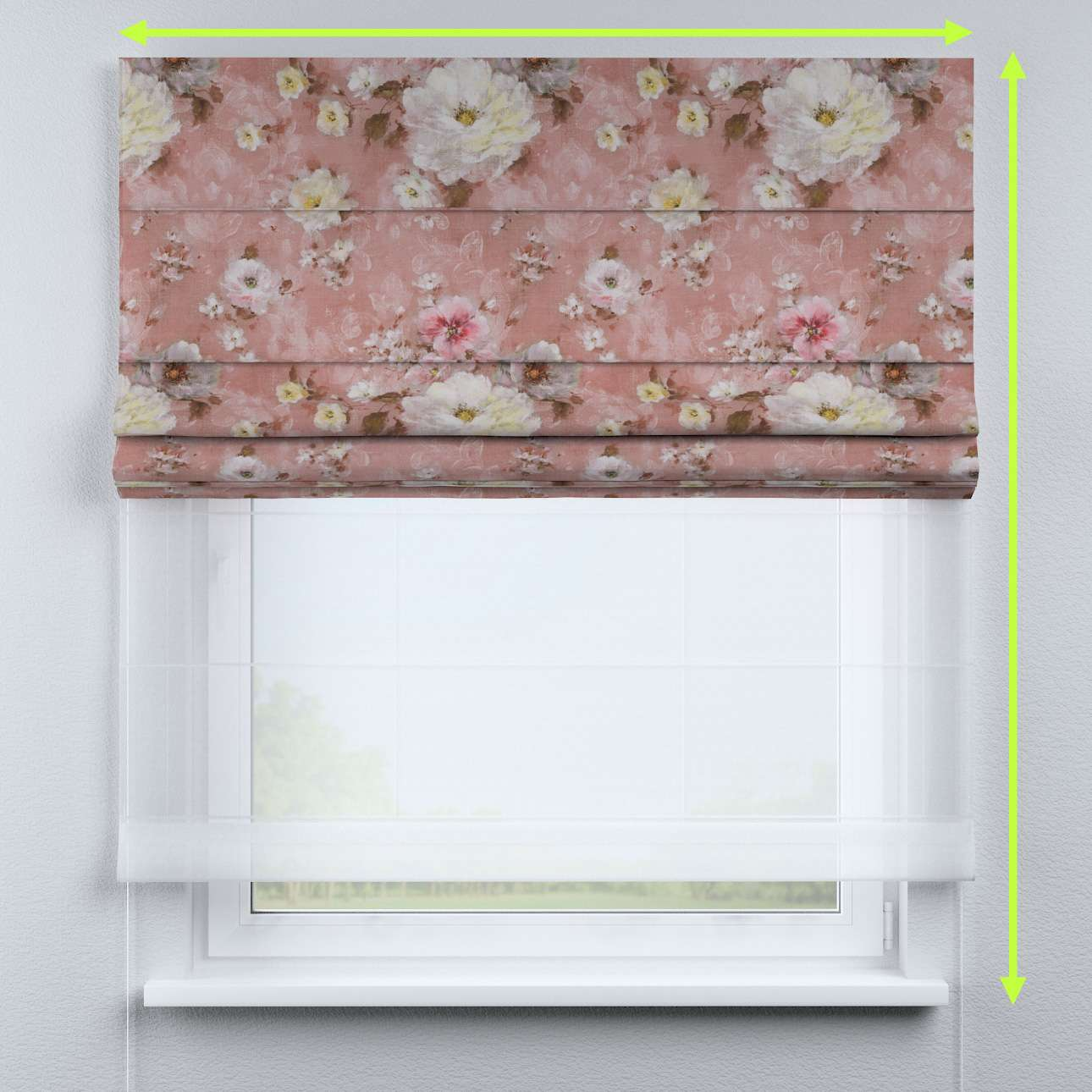 Roleta rzymska Duo w kolekcji Flowers, tkanina: 137-83