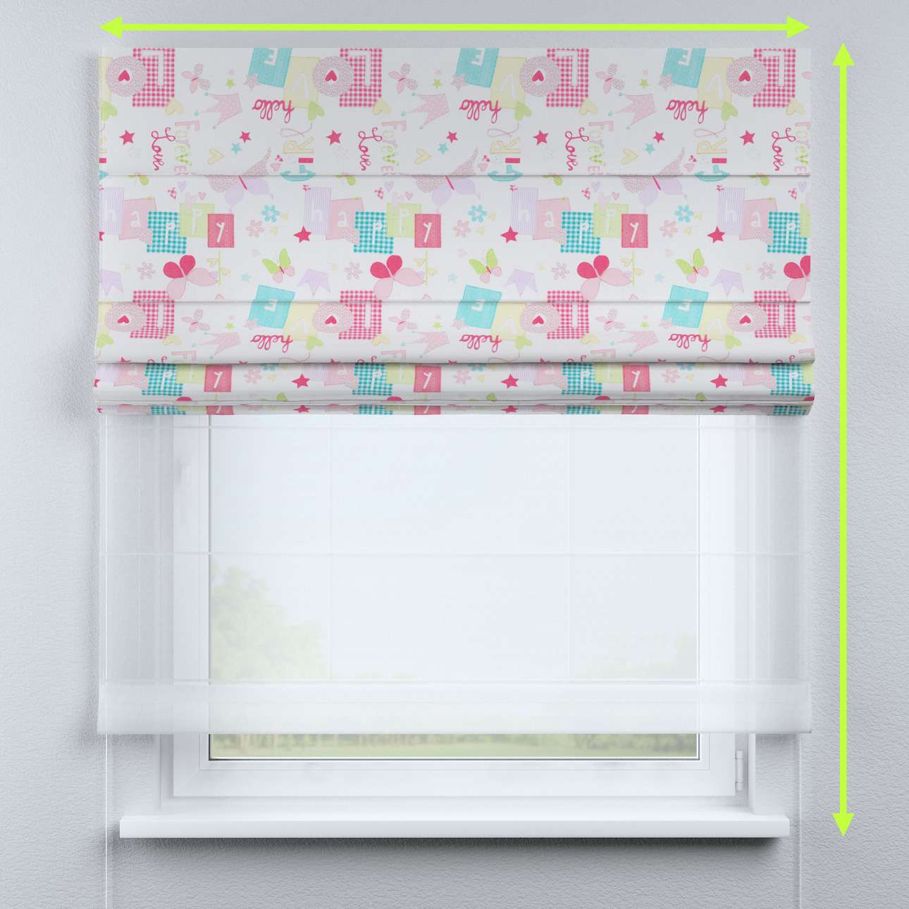 Roleta rzymska Duo 130×170cm w kolekcji Little World, tkanina: 141-51