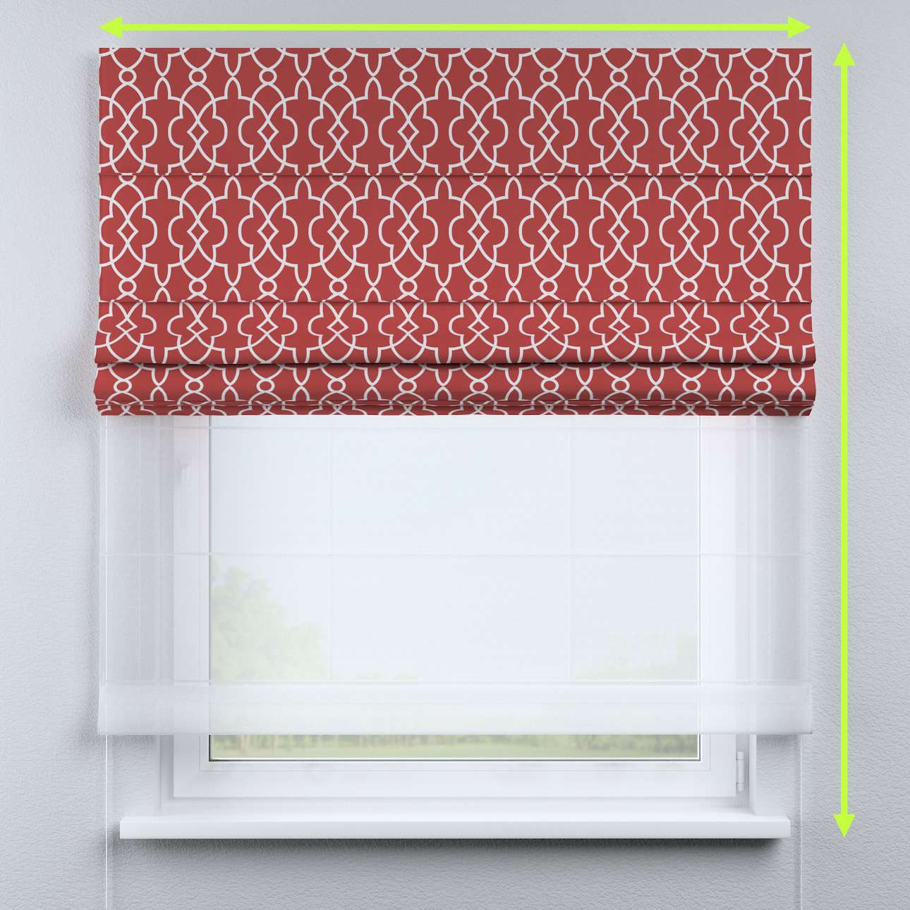 DUO Rímska roleta V kolekcii Gardenia, tkanina: 142-21